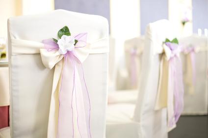 wedding banquet chairs in a restaurant