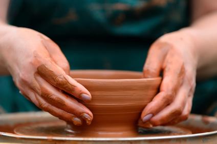 披露宴で手作り茶碗をプレゼント